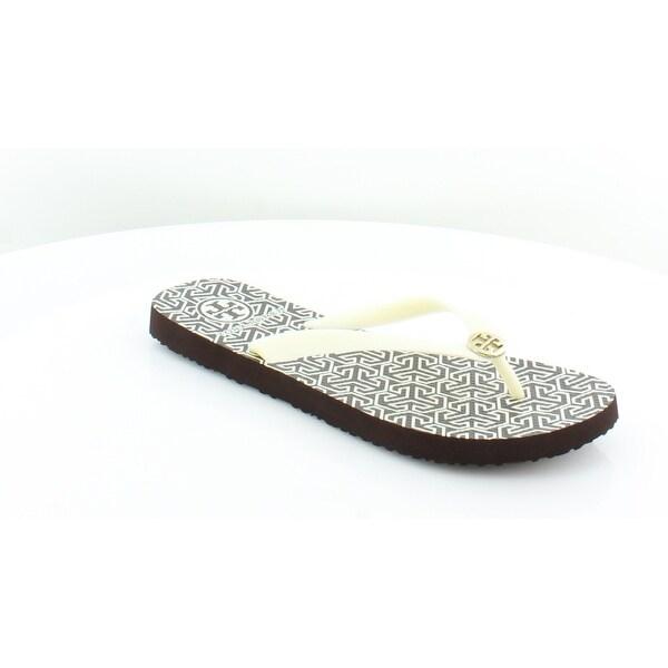 b456430d9 Shop Tory Burch Rubber Flip Flop Women s Sandals   Flip Flops White ...