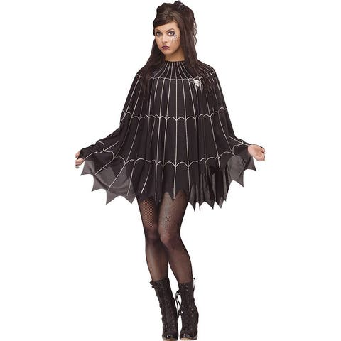 Shimmer Spiderweb Poncho Costume - One Size Fits Most