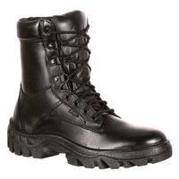 "Rocky Men's 8"" TMC Plain Toe 5010 Black Leather"