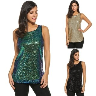 Camisole Shimmer Sequined Sparkle Vest Top