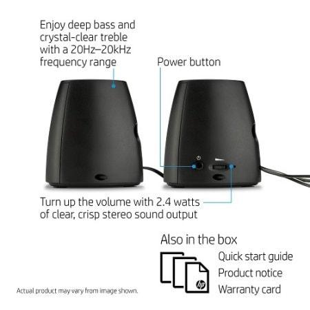 Hp Inc. - Hp S3100 2.0 Speaker Black