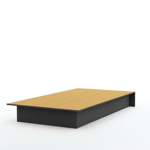 Twin size Platform Bed Frame in Black Wood Finish