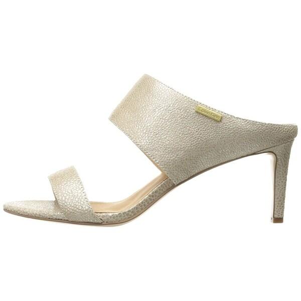 Calvin Klein Womens Cecily Open Toe Casual Slide Sandals