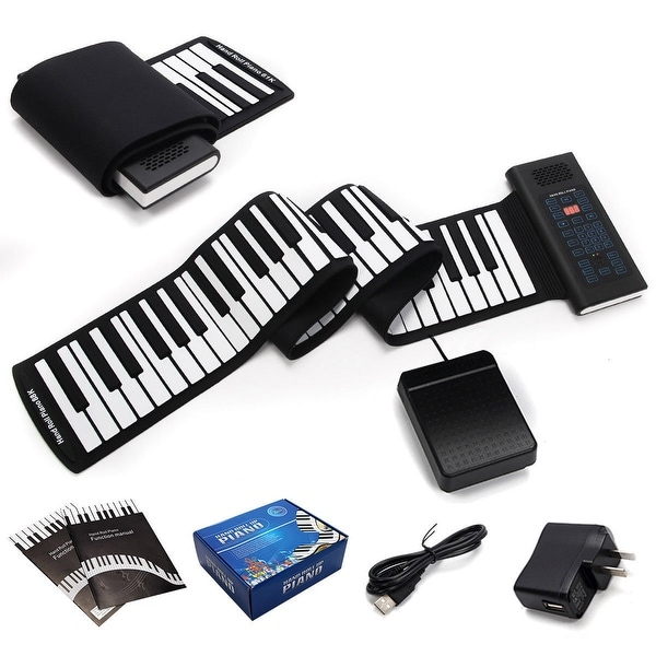 Shop Gymax 88 Keys Roll Up Piano Electronic Music Keyboard