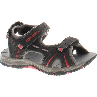 Merrell Boys Panther Performance Water Friendly Sport Sandals - Black/Navy