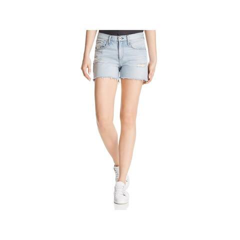 Rag & Bone Womens Denim Shorts Boyfriend Distressed