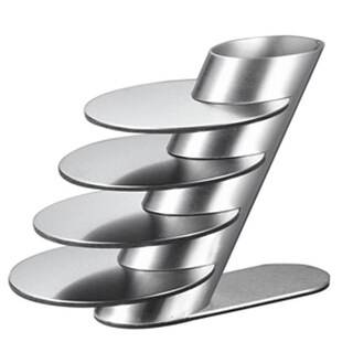 Visol VAC348 Remy Stainless Steel Round Coaster Set with Holder