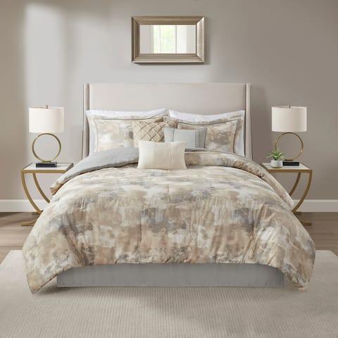 Madison Park Inspire Gray 7 Piece Comforter Set