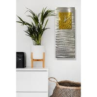 "Statements2000 Metal Wall Clock Art Modern Abstract Accent Decor by Jon Allen - Radiance Clock - 24"" x 9"""