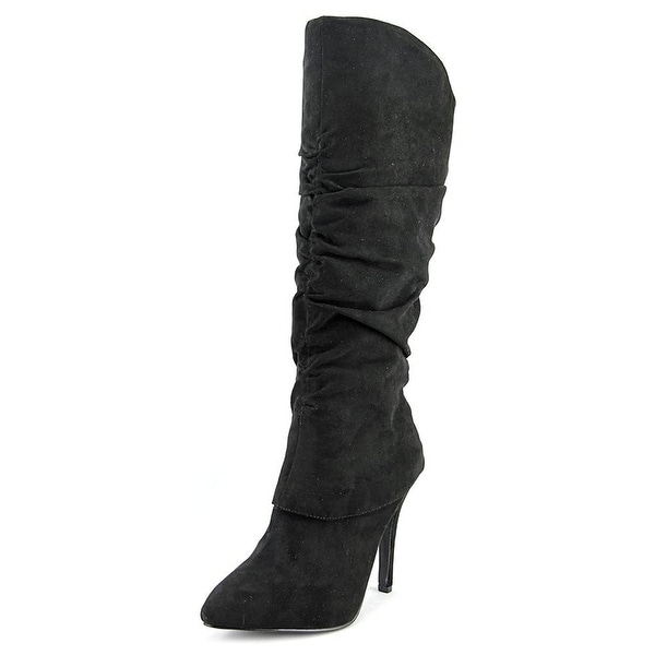 Nina Womens KONNIE Suede Pointed Toe Knee High Fashion Boots
