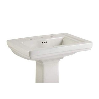 "Mirabelle MIRKW348A Key West 24-3/8"" Porcelain Pedestal Bathroom Sink Only with"