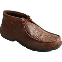 Twisted X Boots Men's MDM0059 Driving Mocs Chukka Boot Brown/Brown Print Leather
