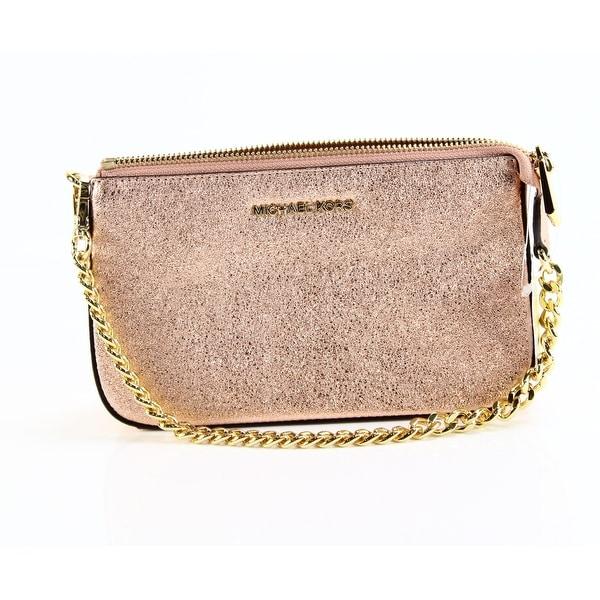 b02dd8a3a1fb ... wholesale michael kors soft pink gold chain clutch leather pouchette bag  1845c 17231