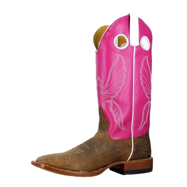 Horse Power Western Boots Mens Leather Cowboy Bison Toast