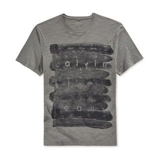 Calvin Klein NEW Charcoal Gray Mens Size 2XL Graphic Print Tee Shirt
