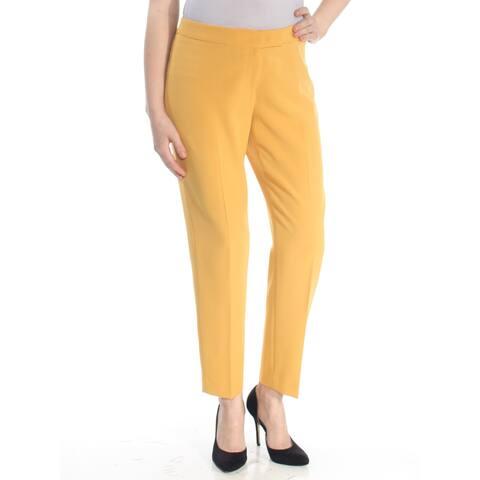 ANNE KLEIN Womens Yellow Straight leg Wear To Work Pants Plus Size: 16W