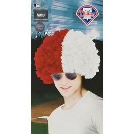 Philadelphia Phillies Wig Baseball Halloween Accessory