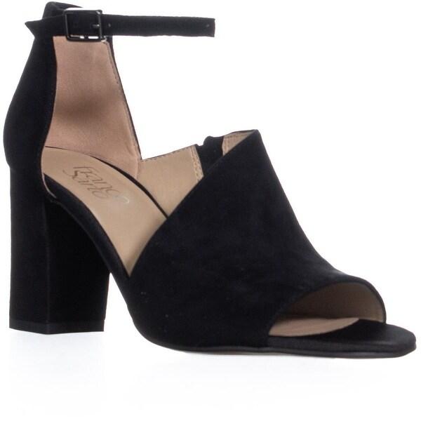 53a4647f33 Franco Sarto Gayle Ankle Strap Block Heel Sandals, Black - 7.5 US / 37.5 EU