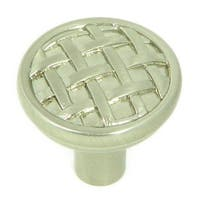 Stone Mill Hardware - Satin Nickel Basket Weave Cabinet Knobs (Pack of 10)