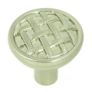 Link to Stone Mill Hardware - Satin Nickel Basket Weave Cabinet Knobs (Pack of 25) Similar Items in Sinks