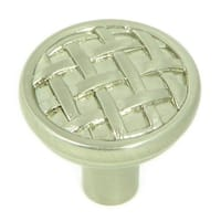 Stone Mill Hardware - Satin Nickel Basket Weave Cabinet Knobs (Pack of 5)