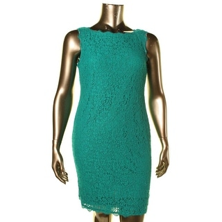 Adrianna Papell Womens Lace Sleeveless Cocktail Dress - 12