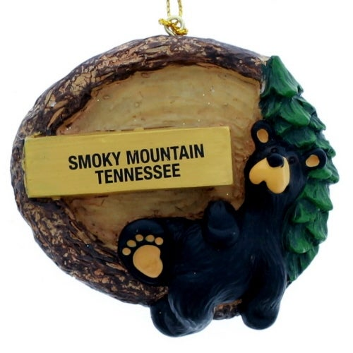 Smoky Mountain Bear Ornament