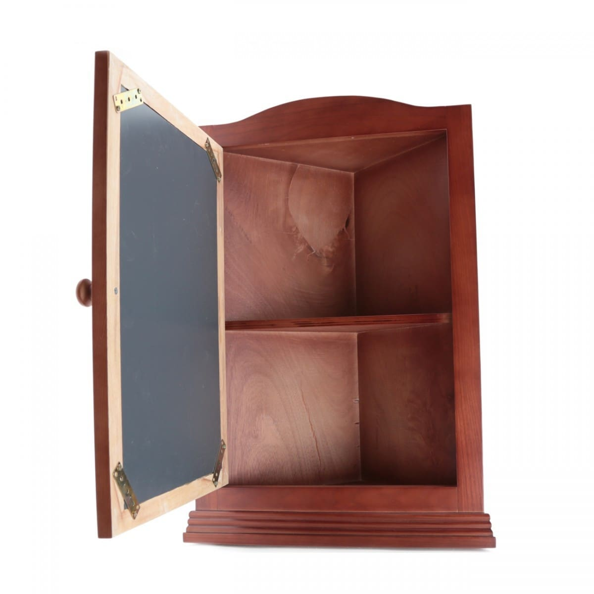 Cherry Hard Wood Mirror Medicine Cabinet Organizer Corner Wall Mount Shelves Fully Embled Renovators Supply N A