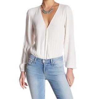 Lovers + Friends White Ivory Womens Size Medium M Bodysuit Knit Top