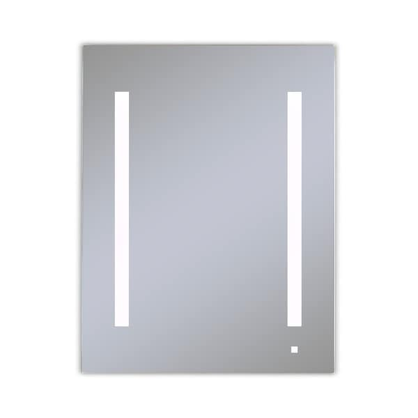 "Robern AC2440D4P1RW AiO 24"" x 40"" x 4"" Single Door Medicine Cabinet with Right Hinge, Task Lighting, and Interior Illumination"