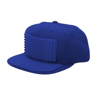 Bricky Blocks Build-on Baseball Costume Blue Hat Unisize
