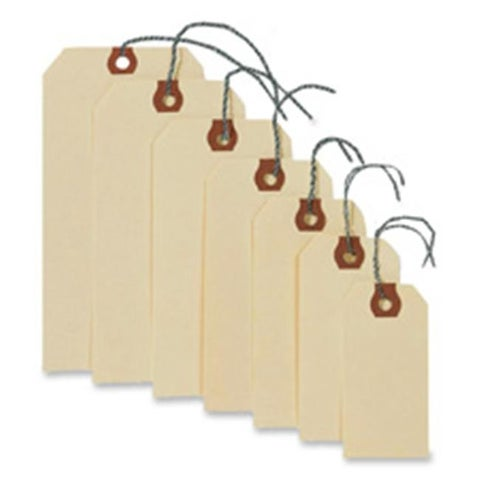 Consumer Products Shipping Tags W-Wire- No 3- 3-.75in.x1-.88in.-