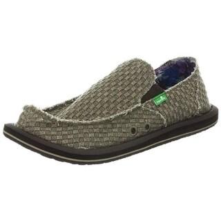 Sanuk Mens Vagabond Canvas Casual Slip-On Shoes