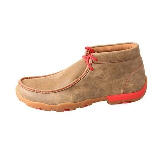 Twisted X Casual Shoe Men Driving Moc Leather Lace Bomber Red MDM0036