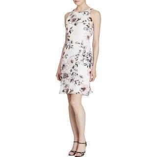 American Living NEW White Womens 16 Floral Twist Back Sheath Dress