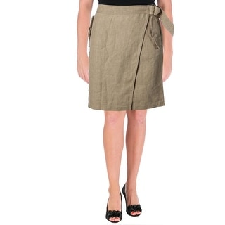 Lauren Ralph Lauren Womens Wrap Skirt Linen Cargo