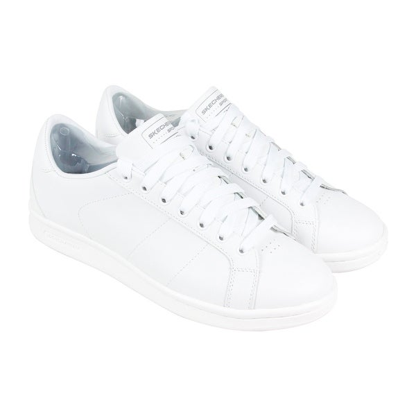 Skechers Omne Mens White Leather Lace