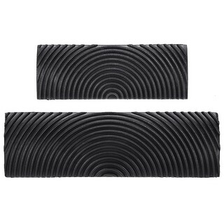 "Wood Graining Rubber Grain Tool Pattern Wall Art Painting DIY Black MS6 2Pcs - MS6 3.5+5"" 2in1 Set"