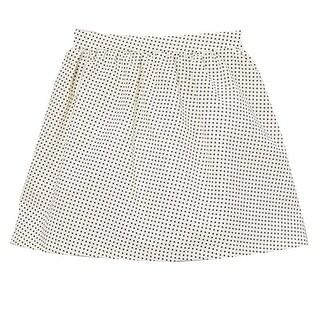 Little Girls Ivory Black Polka Dotted Print All Over Cotton Skirt 12M-6