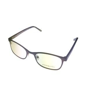 Jhane Barnes Mens Opthalmic Eyeglass Modifed Rectangle Metal Omega Brown - Medium
