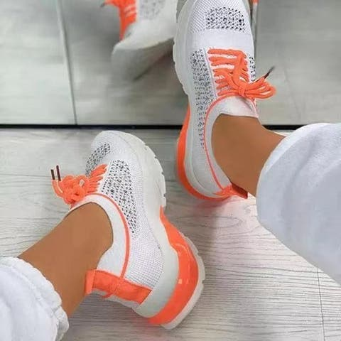 Women's Inner Increased Mesh Breathable Casual Sports Shoes