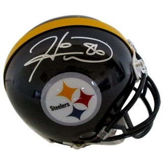 Hines Ward Signed Pittsburgh Steelers Mini Helmet Leaf