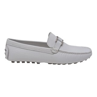 L'Amour Women White Lug Sole Casual Trendy Loafers Shoes 6 -10 Women's