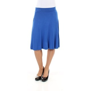 Womens Blue Below The Knee Circle Skirt Size 2XS