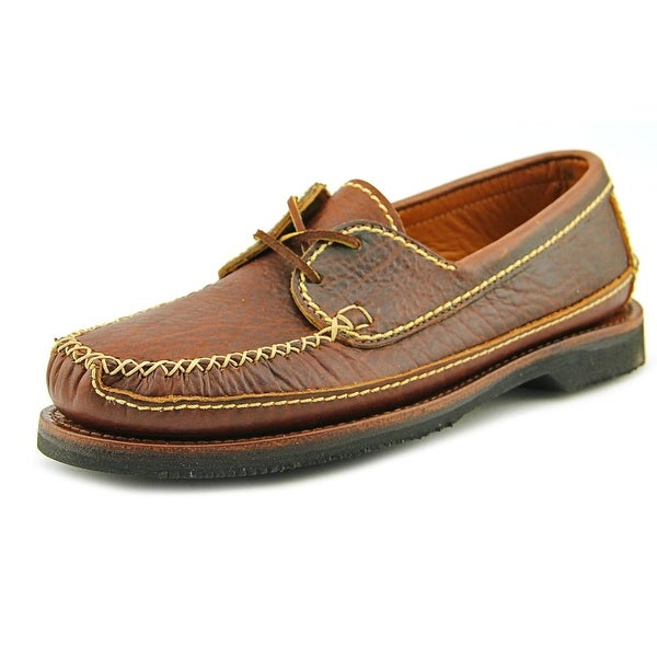 Chippewa American Bison Two Eye Tie 2E Round Toe Leather Loafer