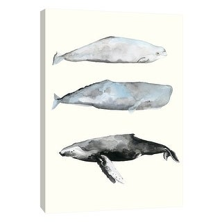 """PTM Images 9-108714  PTM Canvas Collection 10"""" x 8"""" - """"Whale Grouping 1"""" Giclee Whales Art Print on Canvas"""
