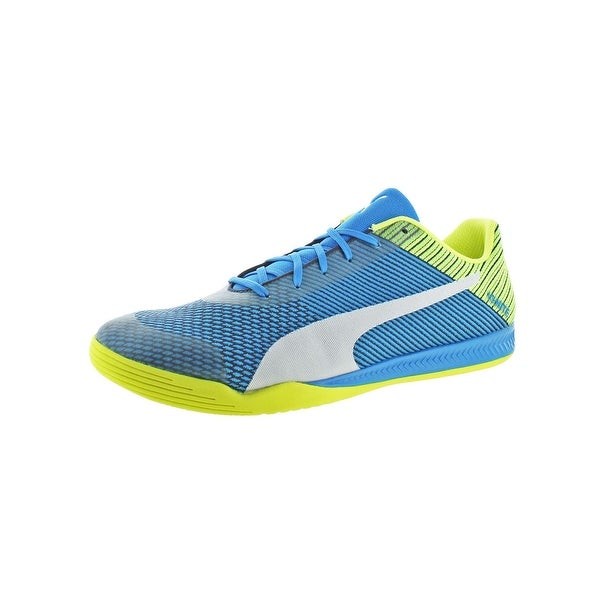 Puma Mens evoSPEED Star Ignite Soccer Shoes Non Marking Lace-Up