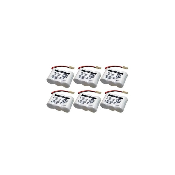 Replacement For VTech BT27333 Cordless Phone Battery (400mAh, 3.6V, NiCD) - 6 Pack