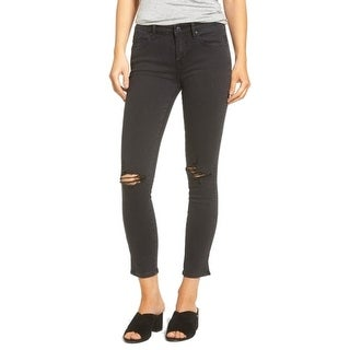 Vigoss NEW Black Women's Size 26X28 Slim Skinny Chelsea Distressed Jeans