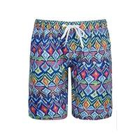 Sun Emporium Boys Multi Color Ikat Sun Protective Board Shorts